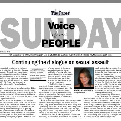 Continuing the dialogue on sexual assault