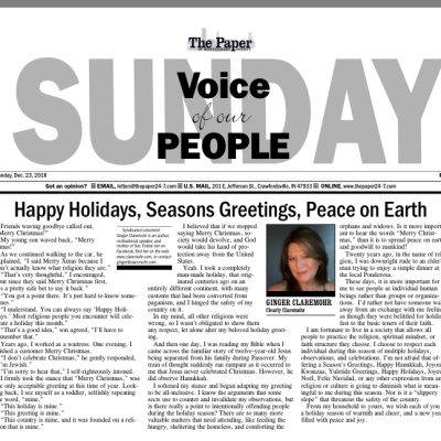 Happy Holidays, Season's Greetings, Peace on Earth